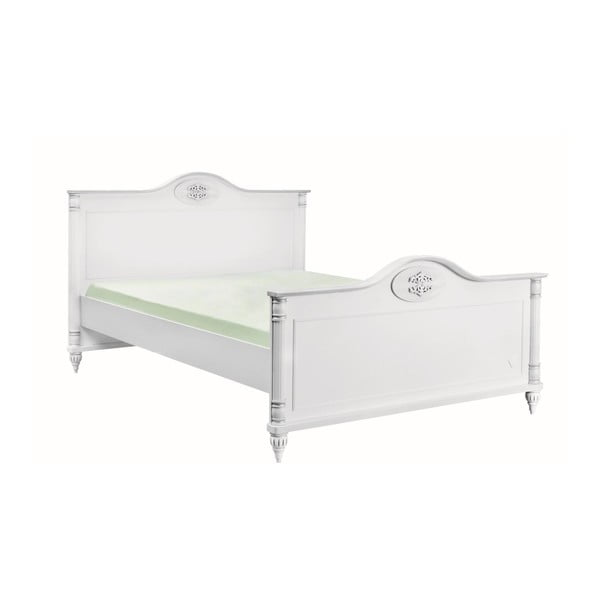 Bílá jednolůžková postel Romantic Bed, 120 x 200 cm