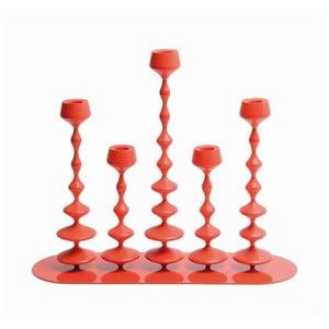 Svícen Les Perles Red XXL