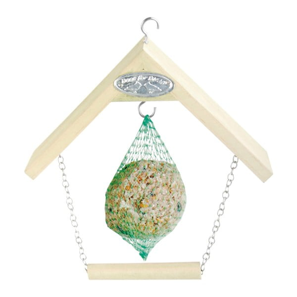 Hrănitoare din lemn pentru păsări Esschert Design, înălțime 20 cm