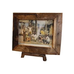 Rámeček  na fotografie z teakového dřeva HSM Collection Antique, 56x45cm