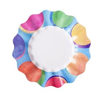 Set 10 farfurii din hârtie GiviItalia Panarea, ⌀ 21 cm