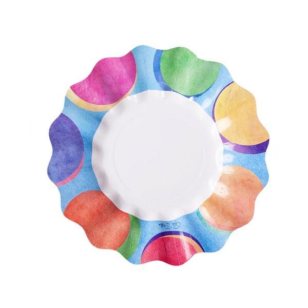 Zestaw 10 talerzy papierowych GiviItalia Panarea, ⌀ 21 cm