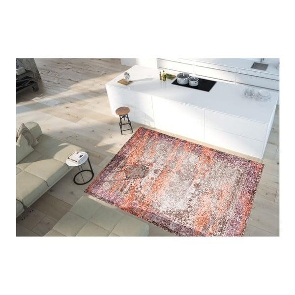 Covor cu rezistență la pete Floorita Vintage Beige Orange, 80 x 150 cm