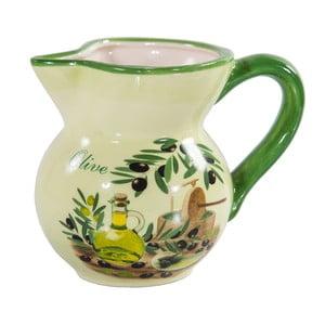 Zelený keramický džbán Olive