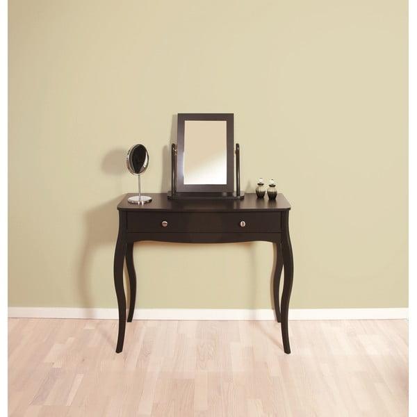 Čiernohnedý toaletný stolík Steens Baroque
