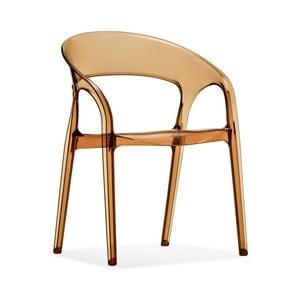 Hnědá židle Pedrali Gossip