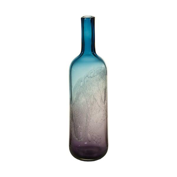 Vază decorativă din cristal Santiago Pons Ryde, înălțime44cm, albastru