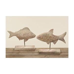 Set 2 decorațiuni din lemn de mango Boltze Fish