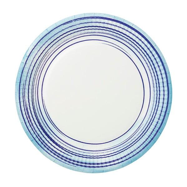 Sada 12 papírových talířů Talking Tables Coast