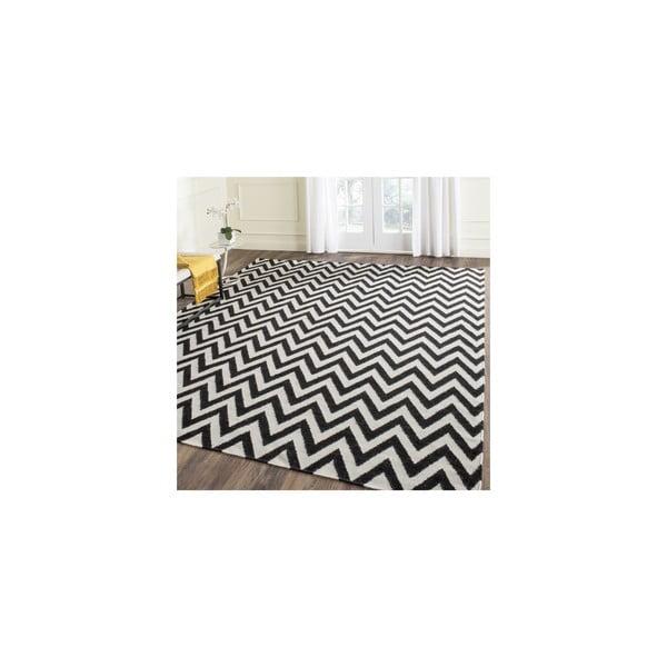 Vlněný koberec Nelli 152x243 cm, černý