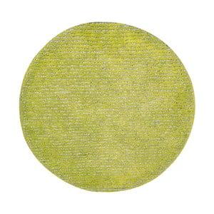 Ručně vyráběný koberec The Rug Republic Modeno Green, ⌀ 70 cm