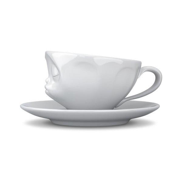 Cană de cafea 58products Sărut, alb