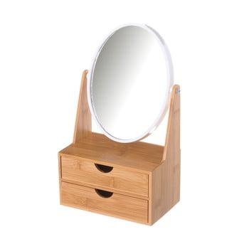 Oglindă cu două sertare din bambus Unimasa imagine