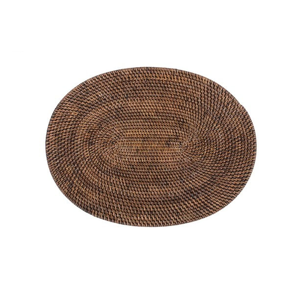 Barna rattan tányéralátét, 30 x 40cm - Tiseco Home Studio
