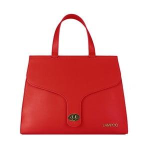 Červená kožená kabelka Lampoo Kanto