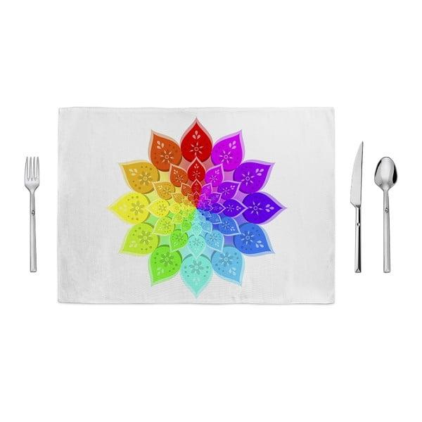 Tropical Colored Mandala tányéralátét, 35 x 49cm - Home de Bleu