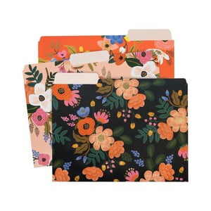 Set 3 mape pentru documente Rifle Paper Lively Floral