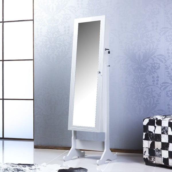 Uzamykatelné stojací zrcadlo se šperkovnicí Fiona, šampaňské