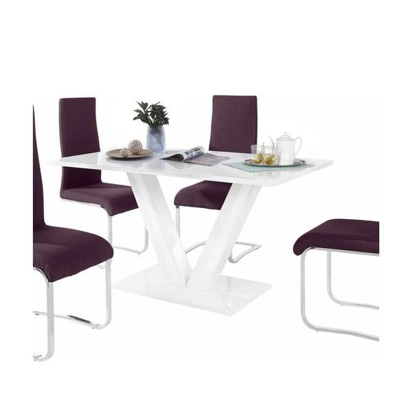 Sada stolu a 4 fialových židlí Støraa Aaron
