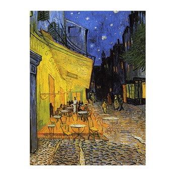 Reproducere pe pânză după Vincent van Gogh - Cafe Terrace, 60 x 45 cm