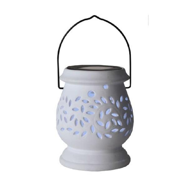 Biely vonkajší LED lampáš Best Season Clay
