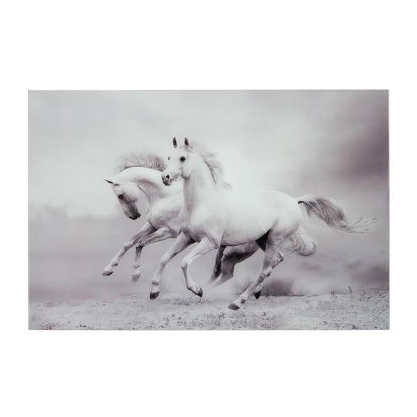 Skleněný obraz Two Horses, 80x120 cm