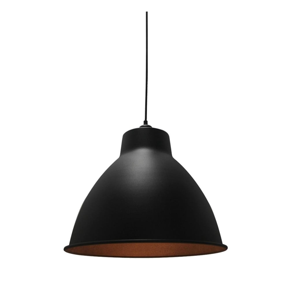 Černé stropní svítidlo LABEL51 Dome