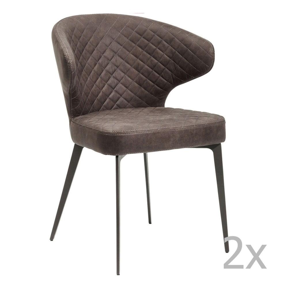 Sada 2 tmavě šedých židlí Kare Design Amsterdam Grey