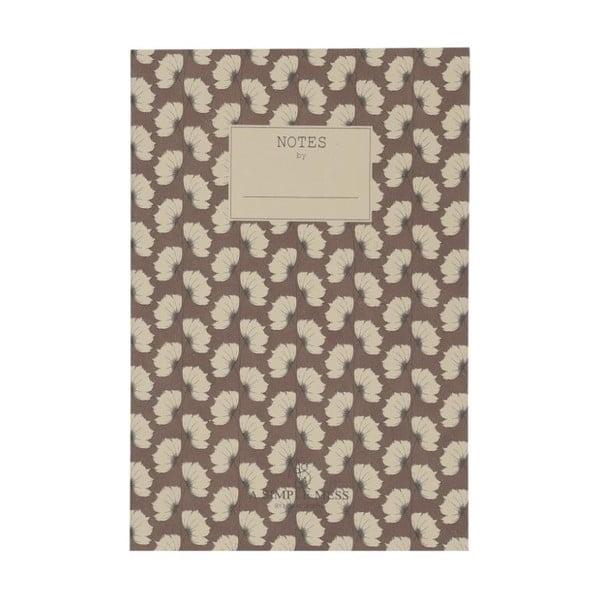 Zápisník A Simple Mess Jena Cognac, 21x14cm