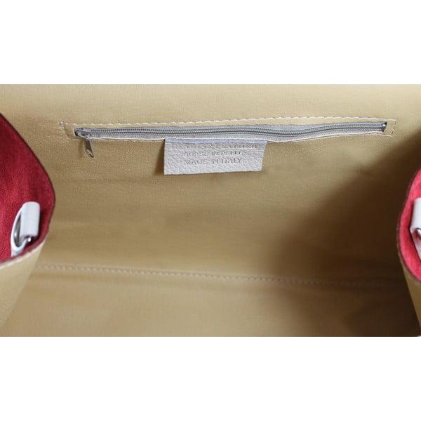 Kožená kabelka Betty Bianco/Fango/Rosso