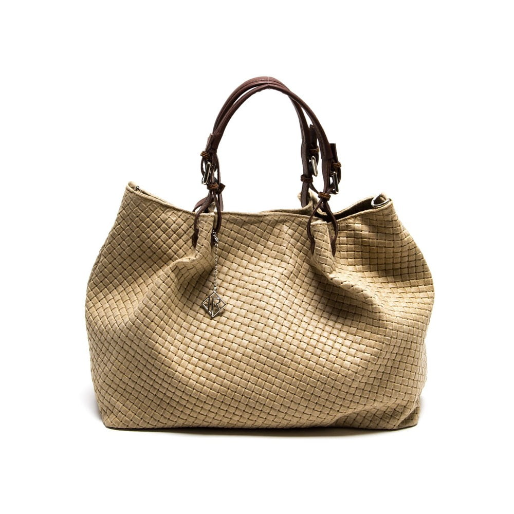 Kožená kabelka Isabella Rhea 8019 Fango  3affcdd3e6