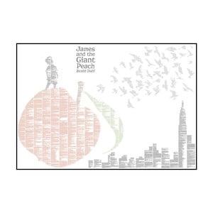 Knižní plakát Jakub a obří broskev, 100x70 cm
