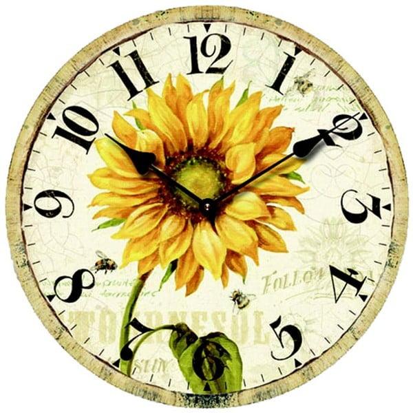 Hodiny Sunflower, 34 cm