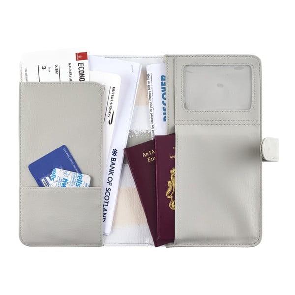 Béžová cestovní peněženka na doklady Busy B