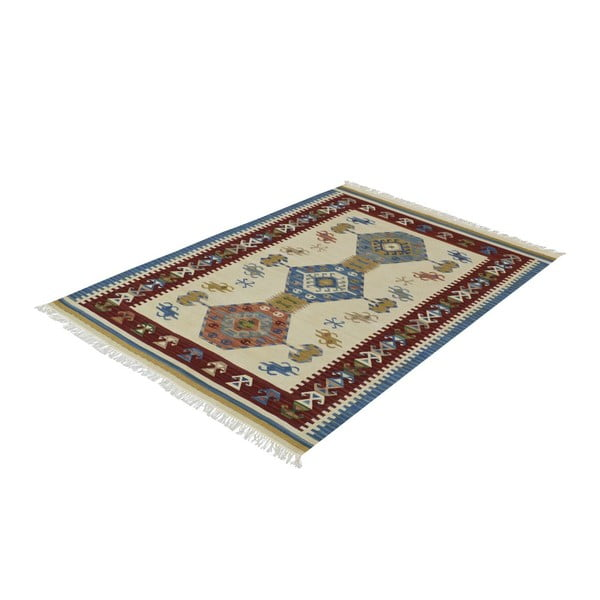 Vlněný koberec Kilim Classic AK05 Mix, 95x155 cm