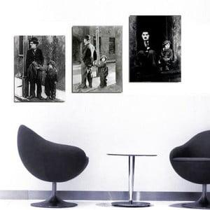 3dílný obraz Charlie, 45x90 cm