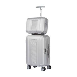 Set bílého kosmetického kufříku a kufru na kolečkách Murano Spider