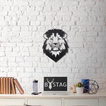 Decorațiune din metal pentru perete Lion, 50 x 38 cm