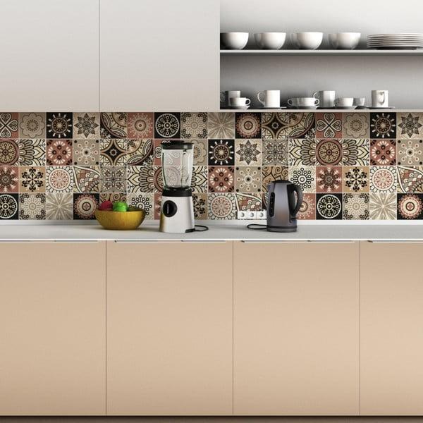 Set 24 autocolante de perete Ambiance Wall Tiles Piura, 10 x 10 cm