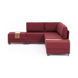 Canapea extensibilă cu 2 blaturi Balcab Home Diana, partea stângă, bordeaux