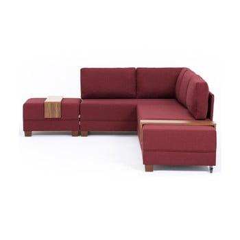 Canapea extensibilă cu 2 blaturi Balcab Home Diana partea stângă bordeaux