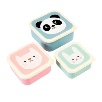 Set 3 recipiente pentru gustări Rex London Panda, Cat, Rabbit imagine