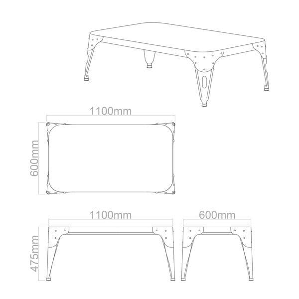 Konferenční stolek Aviator Silver