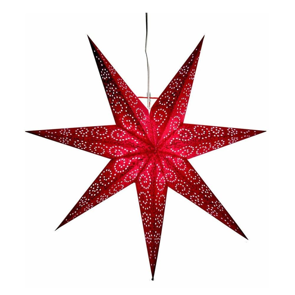 Závěsná červená svítící hvězda Best Season Antique Red, 60 cm