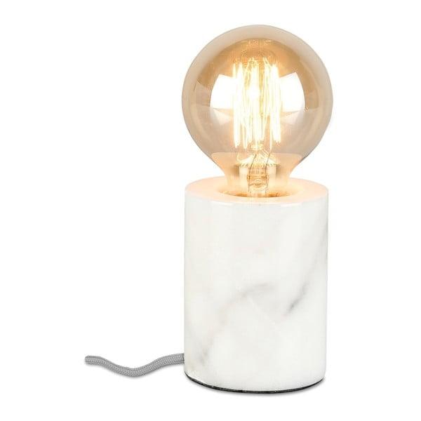 Bílá stolní lampa s mramorovým podstavcem Citylights Athens