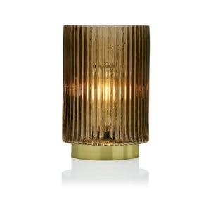 Žlutá skleněná olejová LED lampa Versa Relax, ⌀ 15 cm