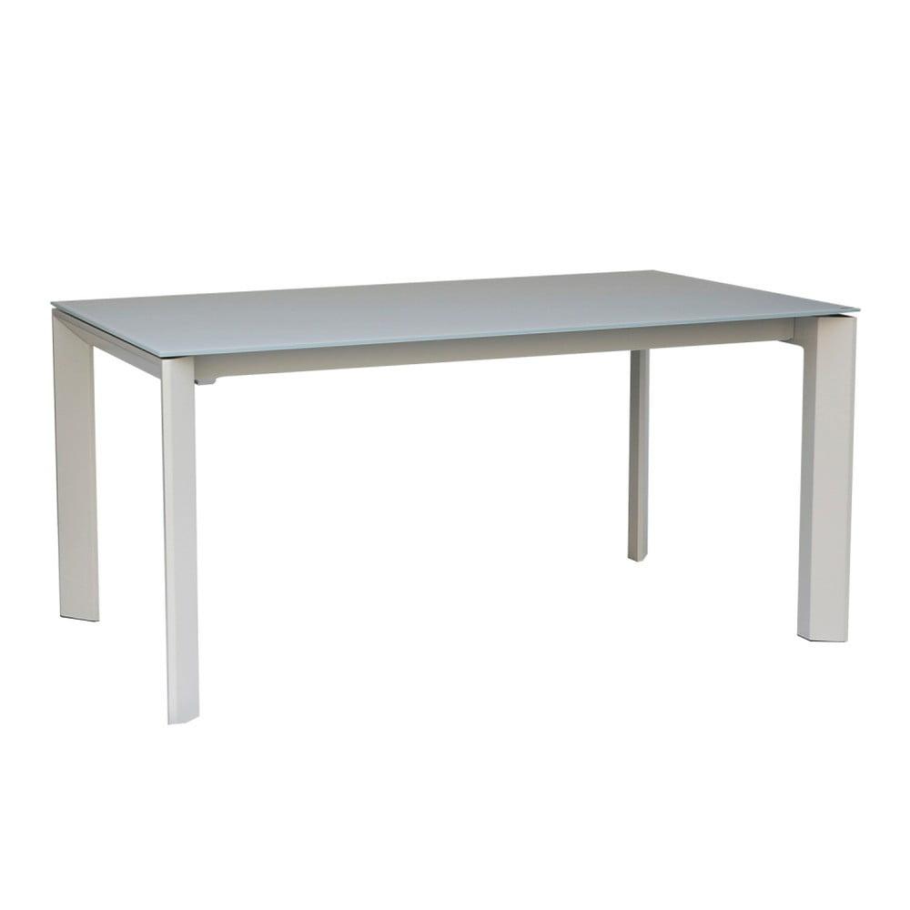 Šedý rozkládací jídelní stůl sømcasa Lisa, 140 x 90 cm