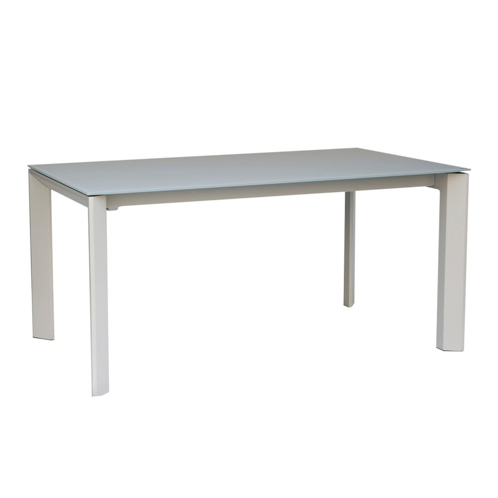 Šedý rozkládací jídelní stůl sømcasa Tamara, 160 x 90 cm