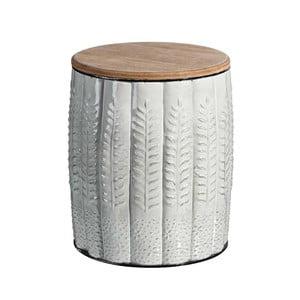 Kovová stolička s deskou z jedlového dřeva Tropicho