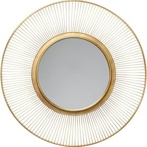 Nástěnné zrcadlo Kare Design Sun Storm,Ø93cm